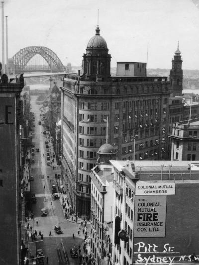 Pitt Street, Sydney, New South Wales, Australia, 1945--Giclee Print