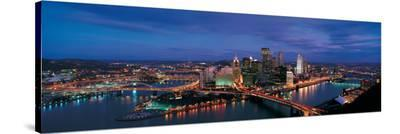 Pittsburg from Mount Washington--Stretched Canvas Print