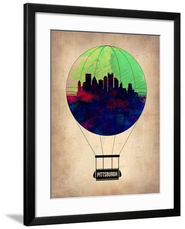 Pittsburgh Air Balloon-NaxArt-Framed Art Print