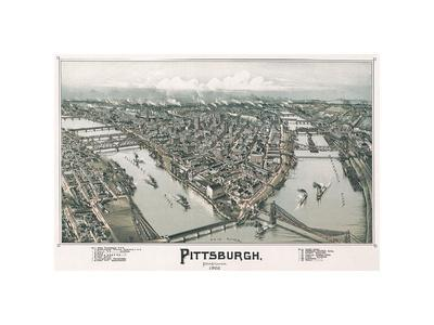 Pittsburgh, Pennsylvania, 1902 Art Print by T M  Fowler | Art com
