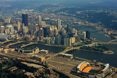 Pittsburgh Pennsylvania Aerial View-shutterrudder-Photographic Print