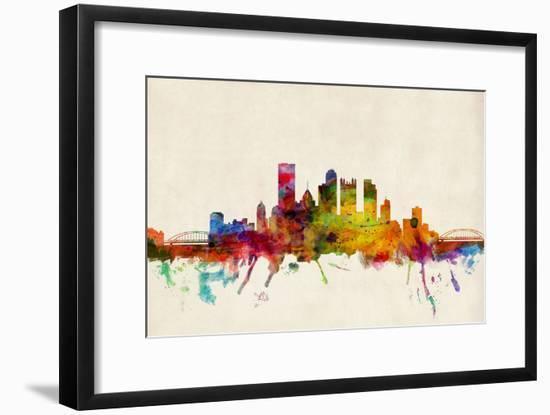 Pittsburgh Pennsylvania Skyline-Michael Tompsett-Framed Art Print