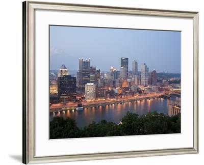 Pittsburgh Skyline Along the Monongahela River-Richard Nowitz-Framed Photographic Print