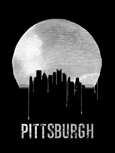 Pittsburgh Skyline Black--Art Print