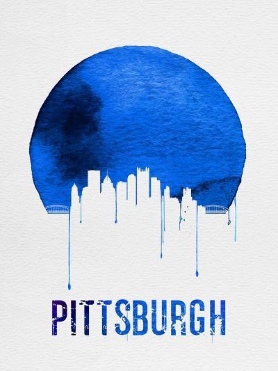 Pittsburgh Skyline Blue--Art Print