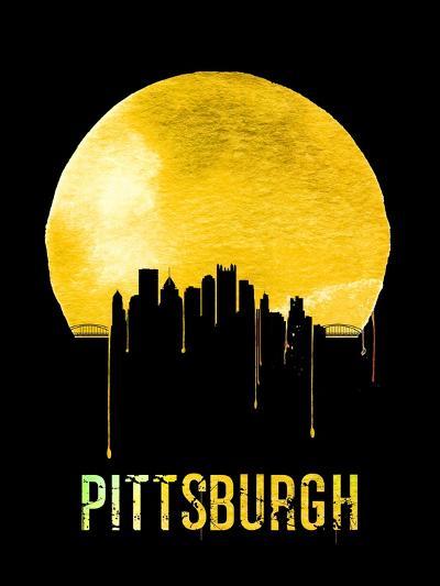 Pittsburgh Skyline Yellow--Art Print