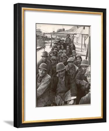 Pittsburgh Steel Workers-Margaret Bourke-White-Framed Premium Photographic Print
