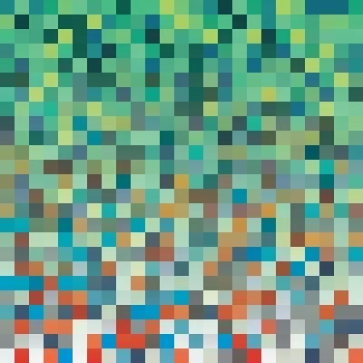 Pixel Art Style Pixel Background-Mike Taylor-Art Print