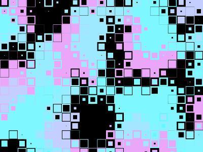Pixels Modern Pattern- montserrat117-Art Print