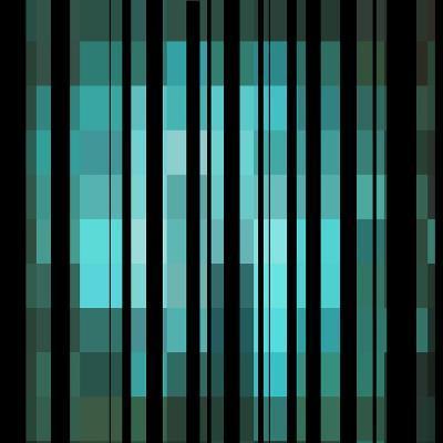 Pixels Stripe Pattern Design-Megan Aroon Duncanson-Art Print