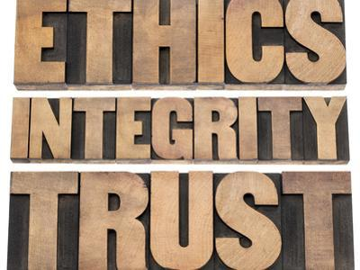 Ethics, Integrity, Trust Word by PixelsAway