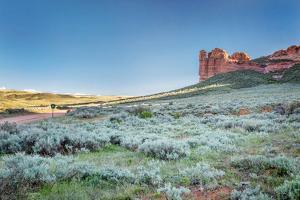 Prairie, Shrubland and Sandstone Rock Formation in Northern Colorado near Wyoming Border - Sand Cre by PixelsAway