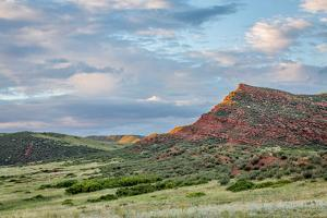Red Mountain Open Space in Northern Colorado near Fort Collins, Summer Scenery at Sunset by PixelsAway