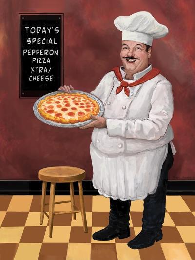 Pizza Chef Master-Frank Harris-Giclee Print