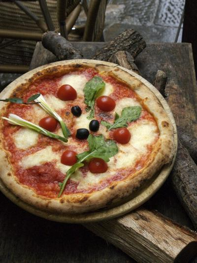 Pizza on Display Outside a Restaurant, Florence, Italy-Brimberg & Coulson-Photographic Print