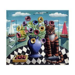 Cat, Fish and Flowers, 2008 by PJ Crook