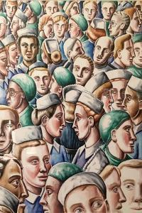 Doctors & Nurses1995  (watercolour) by PJ Crook