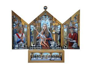 Madonna of the Butterflies with Saints Michael and Jerome by PJ Crook