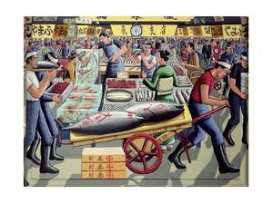 Tsukiji Fish Market, 2005 by PJ Crook