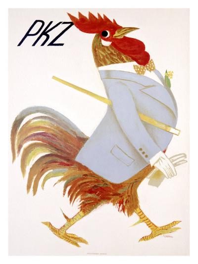 PKZ, Rooster-Carigiet Alois-Giclee Print