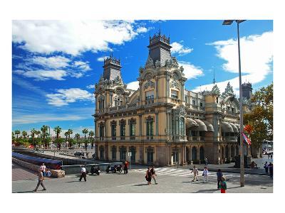 Placa del Portal de la Pau near the harbour, Barcelona, Catalonia, Spain--Art Print