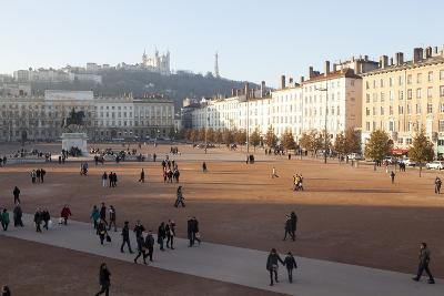 Place Bellecour, Lyon, Rhone-Alpes, France, Europe- Oliviero-Photographic Print