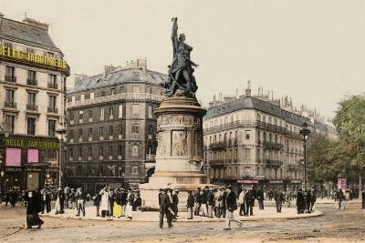 Place Clichy, Montmartre, Paris, 1890--Photographic Print