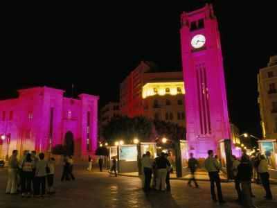 Place d'Etoile at Night, Beirut, Lebanon, Middle East-Alison Wright-Photographic Print