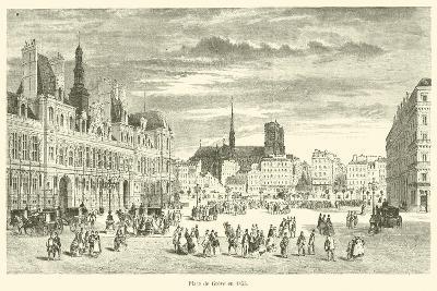 Place De Greve En 1855--Giclee Print