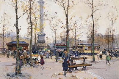 Place De La Bastille, Paris-Eugene Galien-Laloue-Giclee Print