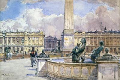 Place De La Concorde, 1847-1908-John Fulleylove-Giclee Print