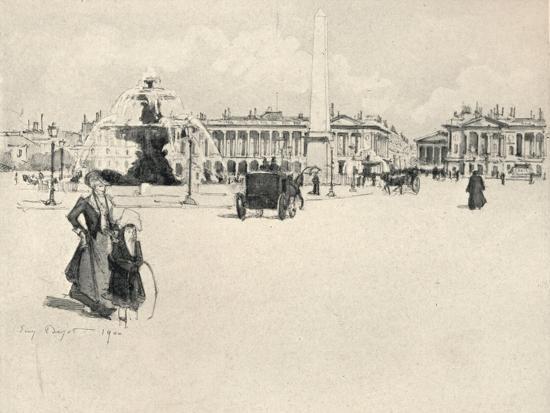 'Place de la Concorde', 1915-Eugene Bejot-Giclee Print