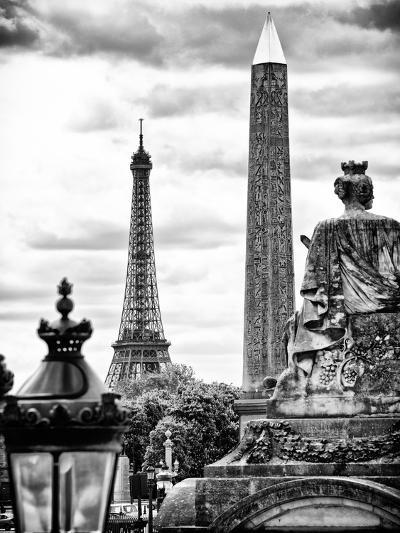 Place De La Concorde with Ancient Obelisk, Hotel Crillon and the Ministry of the Navy, Paris-Philippe Hugonnard-Photographic Print