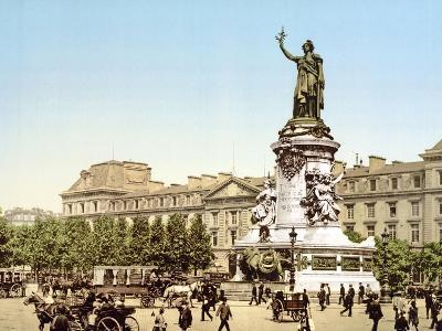 Place De La Republique, Paris, Pub. 1900--Giclee Print