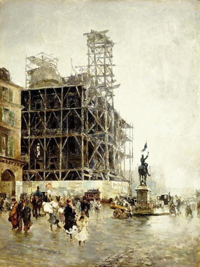 Place De Pyramides-Giuseppe Nittis-Giclee Print