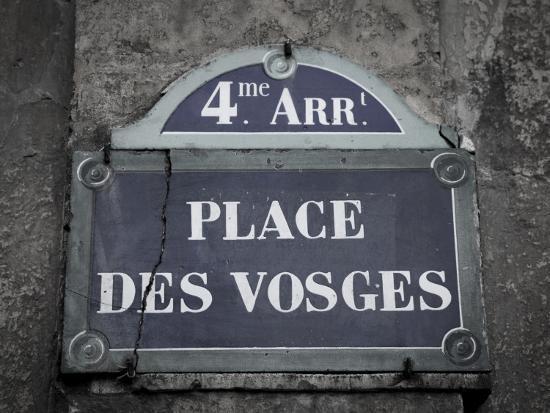Place Des Vosges, Marais District, Paris, France-Jon Arnold-Photographic Print