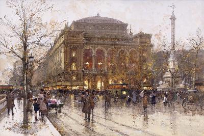 Place Du Chatelet-Eugene Galien-Laloue-Giclee Print