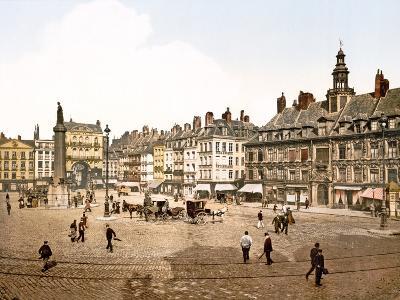 Place Du Général De Gaulle, Lille, 1890-1900--Photographic Print