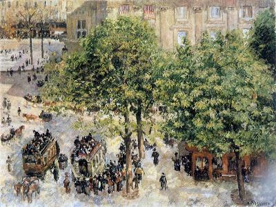 Place Du Theatre-Francais, Spring, 1898-Camille Pissarro-Giclee Print