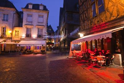 Place Plumereau in Vieux Tours on a Late December Evening, Tours, Indre-Et-Loire, France, Europe-Julian Elliott-Photographic Print