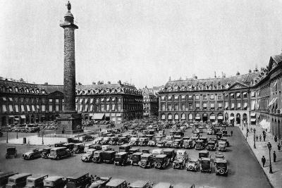 Place Vendome and the Column Erected to Napoleon's Victories, Paris, 1931-Ernest Flammarion-Giclee Print