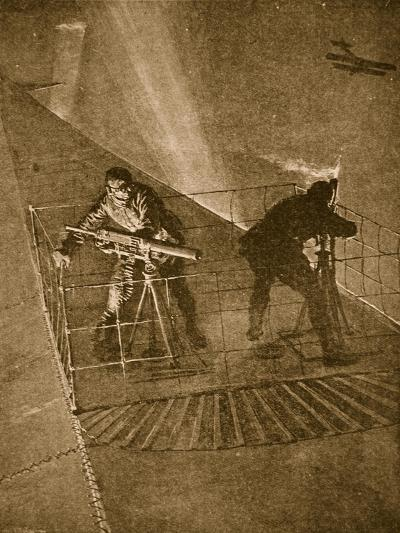 Placed on the Pinnacle and Very Throne of Peril: Repelling Enemy Aircraft--Giclee Print