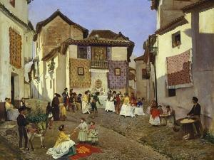 A Spanish Wedding Ceremony, 1873 by Placido Frances y Pascual