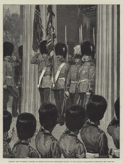 Placing the Waterloo Colours of Second Battalion Grenadier Guards in the Chapel-Richard Caton Woodville II-Giclee Print