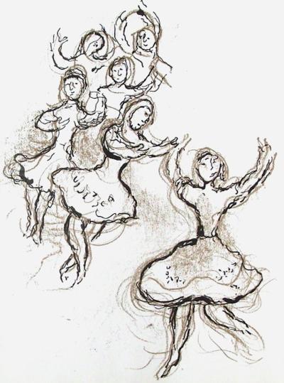 Plafond de l'Op?ra: le Lac des Cygnes-Marc Chagall-Collectable Print