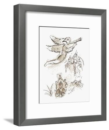 Plafond de l'Opéra: Boris Godounov-Marc Chagall-Framed Collectable Print