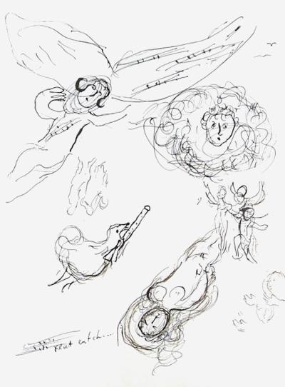 Plafond de l'Opéra: la Flute Enchantee-Marc Chagall-Collectable Print