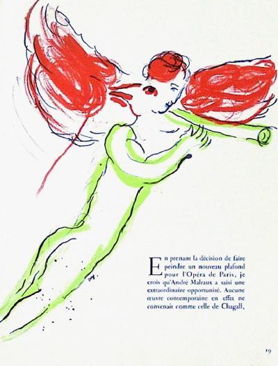 Plafond de l'Opéra: Lange Rouge-Marc Chagall-Collectable Print