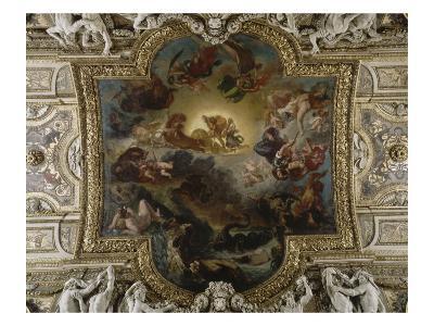 Image De Apollon plafond de la galerie d'apollon : apollon vainqueur du serpent