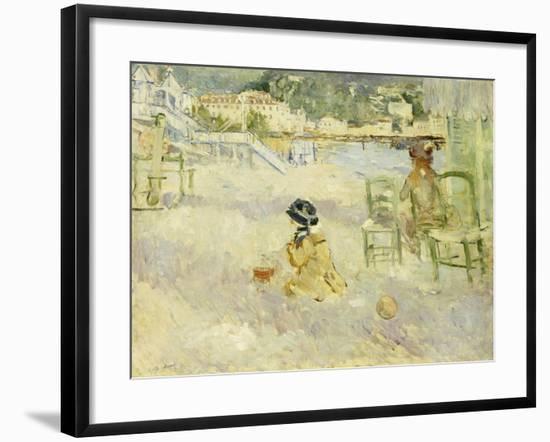 Plage de Nice, 1882-Berthe Morisot-Framed Giclee Print